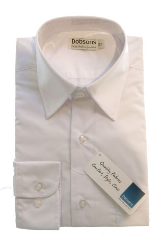 Traditional White Shirt With Collar